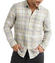 lucky brand men's jaybird regular-fit plaid work shirt