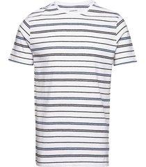 striped mouliné o-neck tee s/s t-shirts short-sleeved vit lindbergh