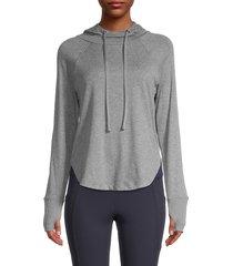 marika women's heidi thumbhole hoodie - heather grey - size l