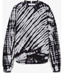 proenza schouler white label tie dye sweatshirt 10258 black/nude m