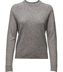 boston o-neck 6304 stickad tröja grå samsøe samsøe