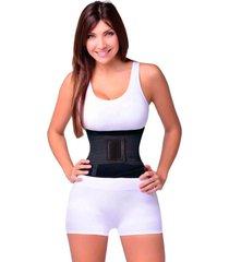 cinta abdominal emagrecedora modeladora  hot belt hb ks casual&sport - preto - dafiti