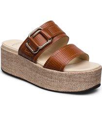 felicia sandalette med klack espadrilles brun vagabond