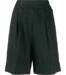 aspesi wide-leg bermuda shorts - green
