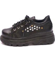 zapatilla negra valentia calzados brenda ema plataforma