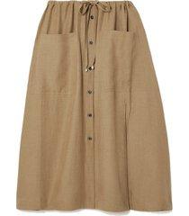 tandy woven midi skirt