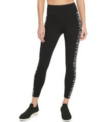 dkny sport zebra-print high-waist leggings