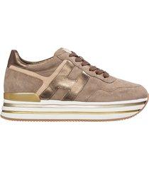 scarpe sneakers donna camoscio midi platform