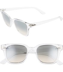 women's ray-ban 51mm classic wayfarer sunglasses - grey/ grey gradient dark grey