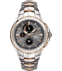 seiko men's chronograph coutura solar two-tone stainless steel bracelet watch 44mm