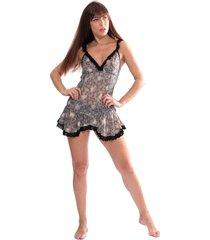 camisola thais gusmão acinturada rendinha black nude