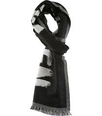 alexander mcqueen oversize mcqueen graffiti scarf