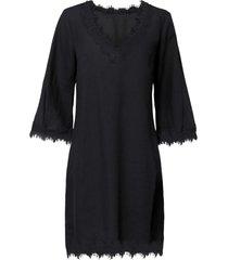 abito in misto lino con tencel™ lyocell (nero) - bodyflirt