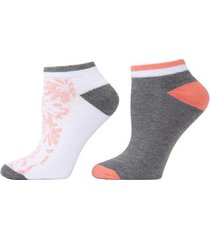 abstract floral socks, 2 pair pack, women's, white, josie