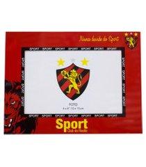 porta retrato minas de presentes 1 foto 10x15cm metal - sport club vermelho