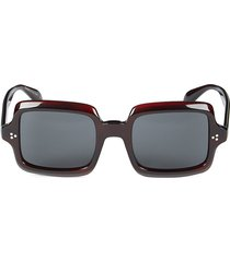 oliver peoples women's 50mm square sunglasses - dark red