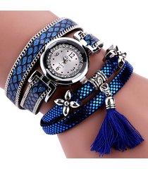 donna orologio a bracciale in quarzo a multistrati di stile casual formale trendy con motivo di serpente