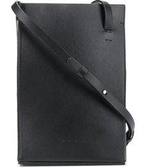 aesther ekme structured crossbody bag - black