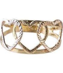 anel folheado - feminino