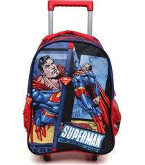 mochila rodas infantil superman 360⺠ic32227sm azul grande - multicolorido - dafiti
