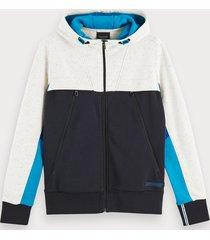 scotch & soda cotton-blend seasonal long sleeve hoodie