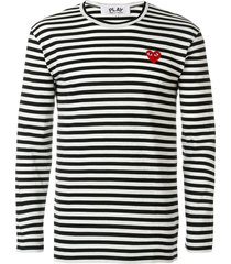 comme des garçons play striped long-sleeve t-shirt - multicolour