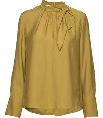 blouse long-sleeve blus långärmad gul gerry weber