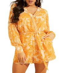 guess painted lady printed romper