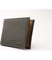billetera aleta reverse verde/miel
