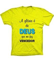 camiseta lu geek manga curta a glória amarelo