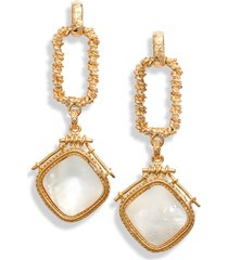 women's gas bijoux mother of pearl drop earrings