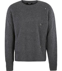 dsquared2 distressed knit sweater