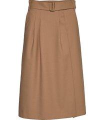 hcw chino skirt knälång kjol beige hilfiger collection