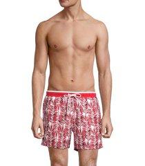 boss hugo boss men's piranha printed swim trunks - red - size xxl
