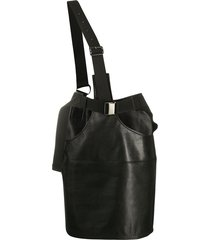 junya watanabe strappy mini skirt - black