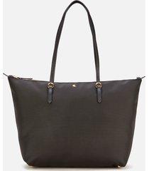 lauren ralph lauren women's keaton medium 31 tote bag - black