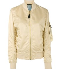 alpha industries arm pocket bomber jacket - neutrals
