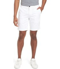 men's ag wanderer modern slim fit shorts, size 40 - white
