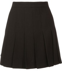 neil barrett pleated skort - black