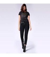 camiseta diesel t-sily-l feminina