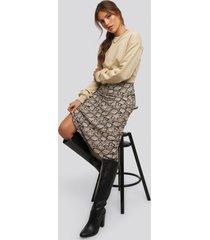 xle the label snake midi skirt - multicolor