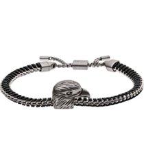 emporio armani men's eagle head stainless steel id bracelet