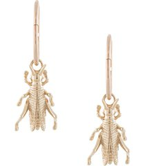karen walker grasshopper sleepers hoop earrings - gold