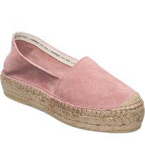 ida sandaletter expadrilles låga rosa pavement