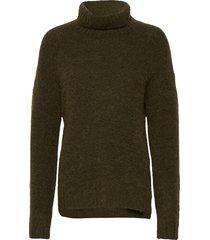 11 the knit rollneck turtleneck coltrui groen denim hunter