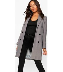 double breasted coat, grey