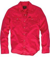pme legend roze twill denim overhemd lange mouw