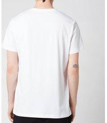 balmain men's printed t-shirt - white - xxl