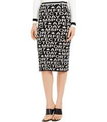 marella printed pencil skirt