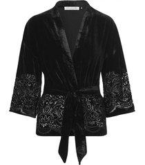 zwarte rosemunde jas 3/4 sl